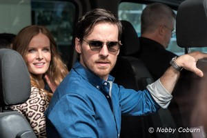 Colin and Rebecca arriving at Comic Con 2016