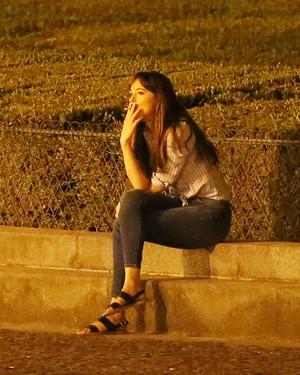 Dakota in Paris filming Fifty Shades Freed