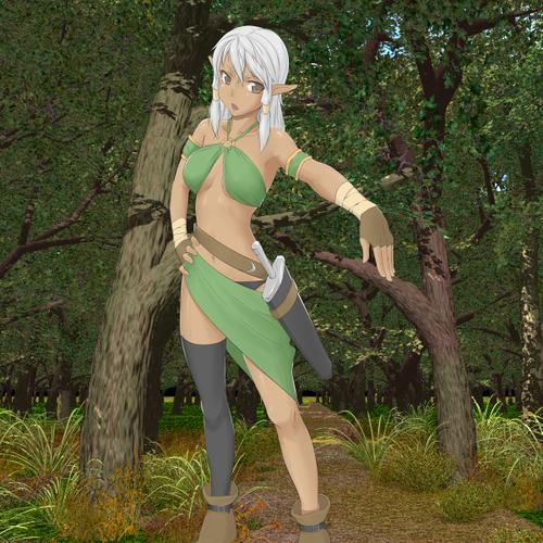 Monster Girl Quest wallpaper called Dark Elf Fencer