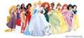 Disney Princesses with Elena - disney-princess fan art