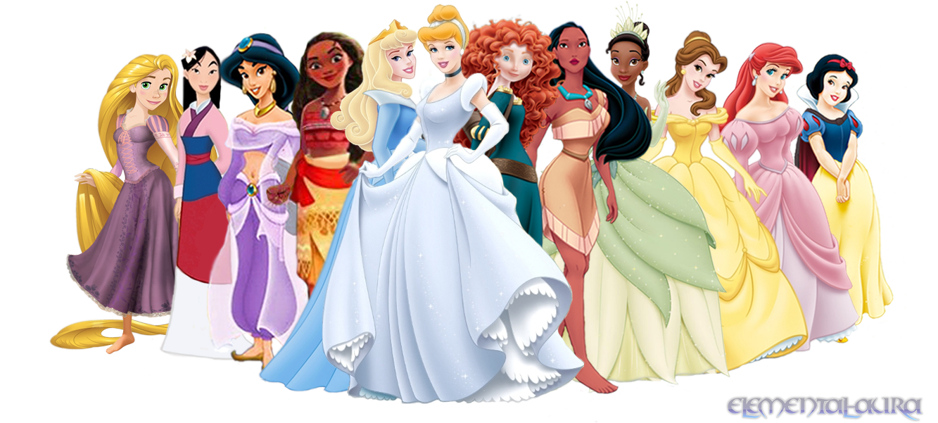 Disney Princesses with Moana