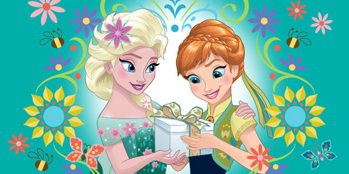 Frozen Fever Hintergrund probably containing Anime called Elsa and Anna