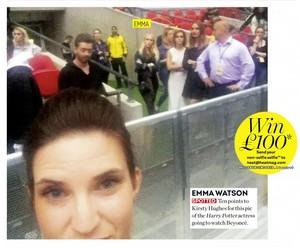 Emma Watson at Beyoncé's concert [July 03, 2016]