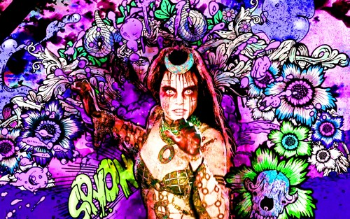 Suicide Squad achtergrond with anime titled Enchantress