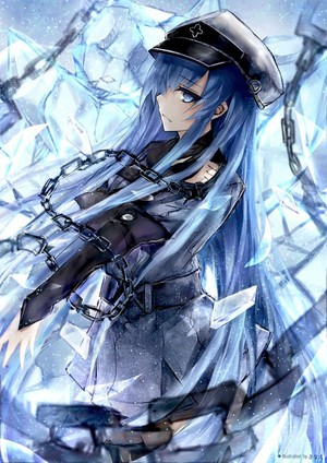 Esdeath fan art leone akame ga kill 38316937 736 1040