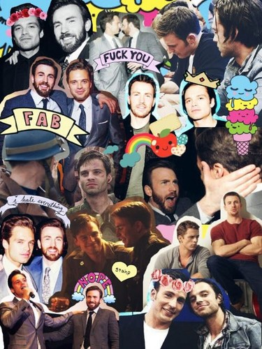Chris Evans & Sebastian Stan 壁紙 titled Evanstan collage