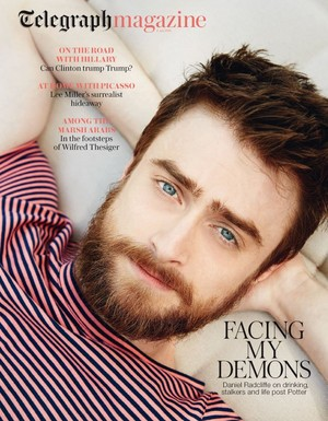 Ex: The Telegraph Magazine covers Daniel Radcliffe (FB.com/DanielJacobRadcliffeFanClub)