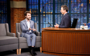 Exclusive: Daniel Radcliffe on Late Night with Seth Meyers (Fb.com/DanielJacobRadcliffeFanClub)
