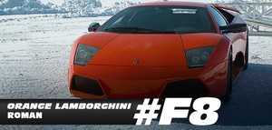 Fast 8 Cars - Rome's orange Lamborghini