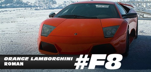 Fast and Furious wallpaper probably with a coupe, a sedan, and a sports car titled Fast 8 Cars - Rome's Orange Lamborghini