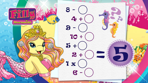 Myfilly Images Filly Mermaids Suzy Math Game Sheet, Dracco