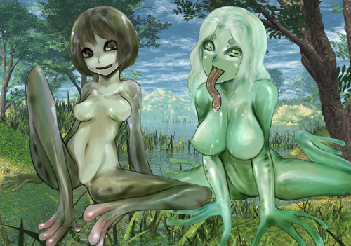 Monster Girl Quest wolpeyper entitled Frog Girls
