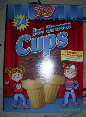 Frozen Dairy Cones
