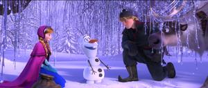 Walt Disney Screencaps - Princess Anna, Olaf, Kristoff Bjorgman & Sven