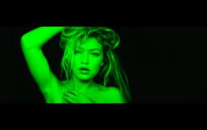 Gigi in Calvin Harris' How Deep Is Your 사랑 음악 Video
