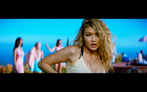 Gigi in Calvin Harris' How Deep Is Your 愛 音楽 Video