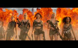 Gigi in Taylor Swift's Bad Blood Music Video
