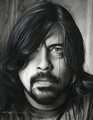 Grohl in Black II   Scan - foo-fighters fan art
