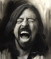 Grohl in Black III - foo-fighters fan art