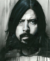 Grohl in Black   Scan - foo-fighters fan art