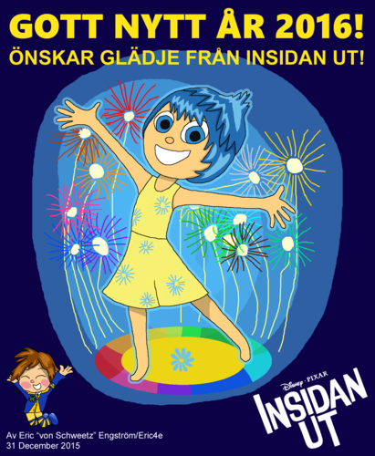 Inside Out achtergrond containing anime entitled Happy New jaar Card 2015 - Joy (Swedish)