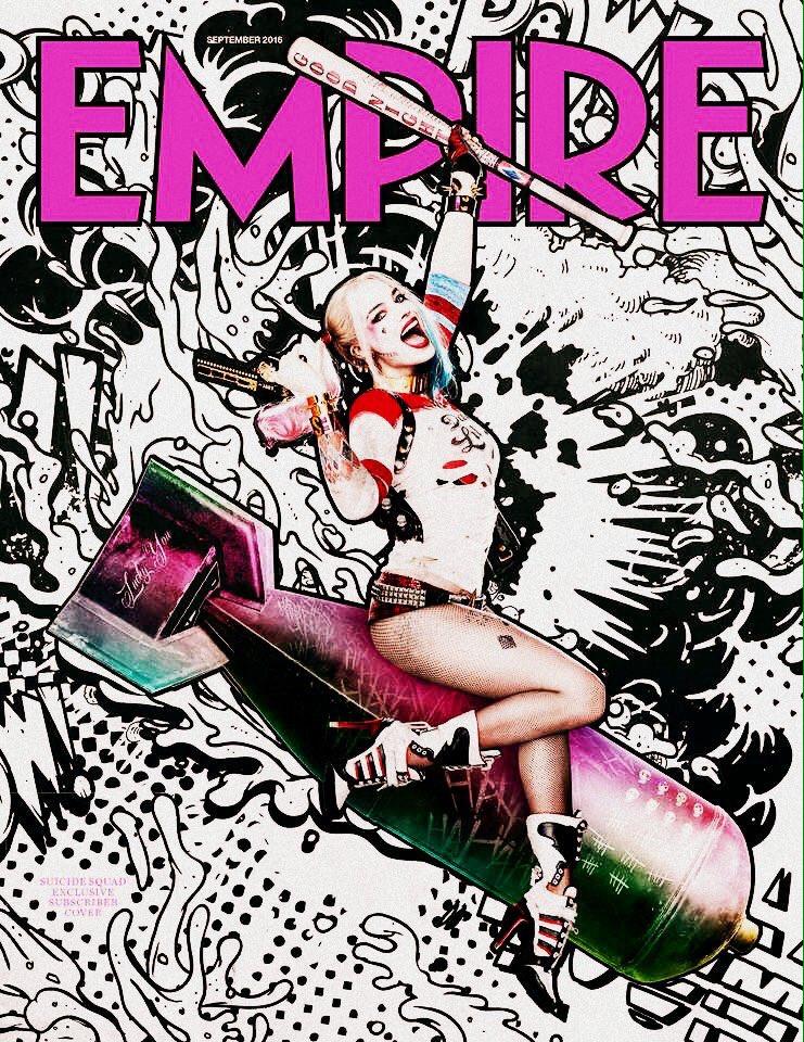 Harley Quinn on the cover of Empire Magazine - September 2016
