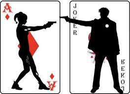 Harley and Joker cards