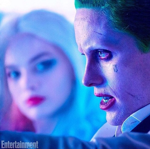 Suicide Squad karatasi la kupamba ukuta possibly containing a portrait titled Suicide Squad Stills - Harley and The Joker