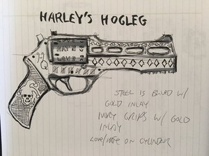 Harley's Hogleg design door David Ayer