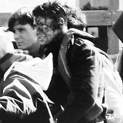 Harry on Dunkirk set
