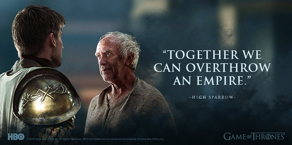 High Sparrow and Jaime Lannister