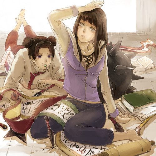 Pureheroine images hinata and tenten naruto wallpaper and pureheroine wallpaper probably with tights entitled hinata and tenten naruto voltagebd Image collections