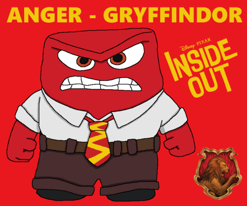Inside Out achtergrond containing anime titled Hogwarts Yearbook Collab - Anger