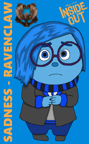 Inside Out achtergrond with anime titled Hogwarts Yearbook Collab - Sadness