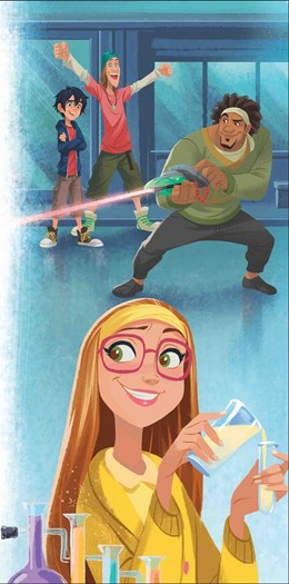 Honey Lemon, Hiro, ফ্রেড and Wasabi