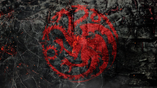 Game of Thrones wallpaper probably containing a sign called House Targaryen