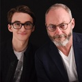 Isaac Hempstead-Wright and Liam Cunningham - game-of-thrones photo