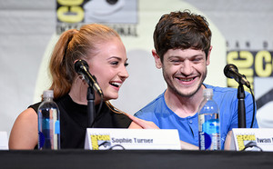 Iwan Rheon and Sophie Turner at San Diego Comic Con 2016