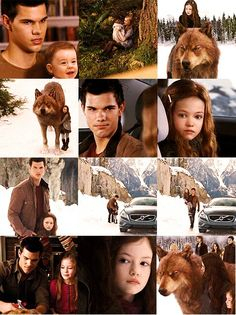 Jacob Black and Renesmee Cullen 壁纸 probably containing a street, a sign, and a kennel entitled Jake/Nessie Fanart