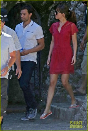 Jamie Dornan and Dakota Johnson Continue Filming 'Fifty Shades' in France