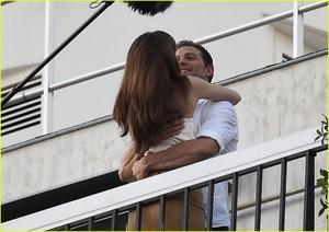 Jamie Dornan and Dakota Johnson KISS Overlooking the Eiffel Tower