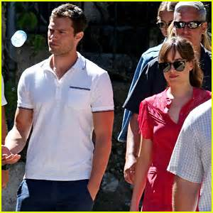 Jamie and Dakota filming honeymoon scenes for Fifty Shades Freed