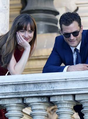 Jamie and Dakota in Paris