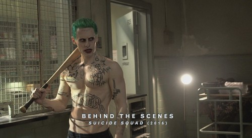 Suicide Squad achtergrond called Jared Leto as The Joker ~ Behind-The-Scenes