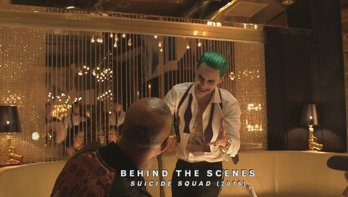 Suicide Squad 바탕화면 containing a 브라 세리 called Jared Leto as The Joker ~ Behind-The-Scenes