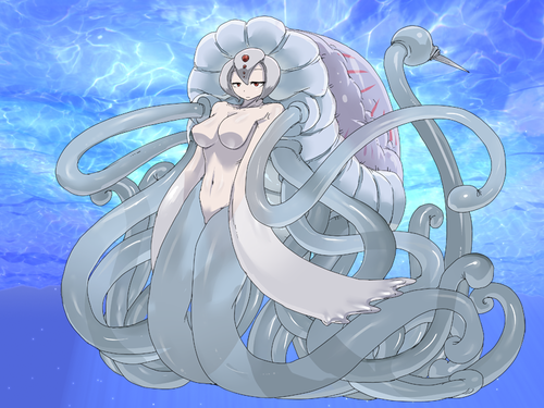 Monster Girl Quest kertas dinding titled Jellyfish Girl