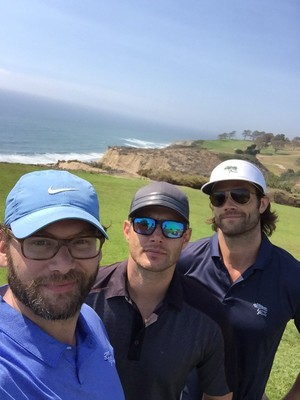 Jensen with Jason Manns and Jared Padalecki