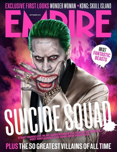 Suicide Squad wallpaper possibly containing Anime titled Joker on the cover of Empire Magazine - September 2016