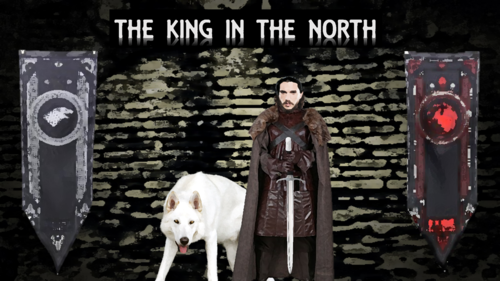 Game Of Thrones Wallpaper Titled Jon Snow The King In North