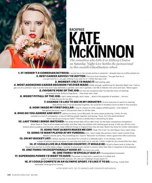 Kate McKinnon Q&A in Marie Claire, July 2016